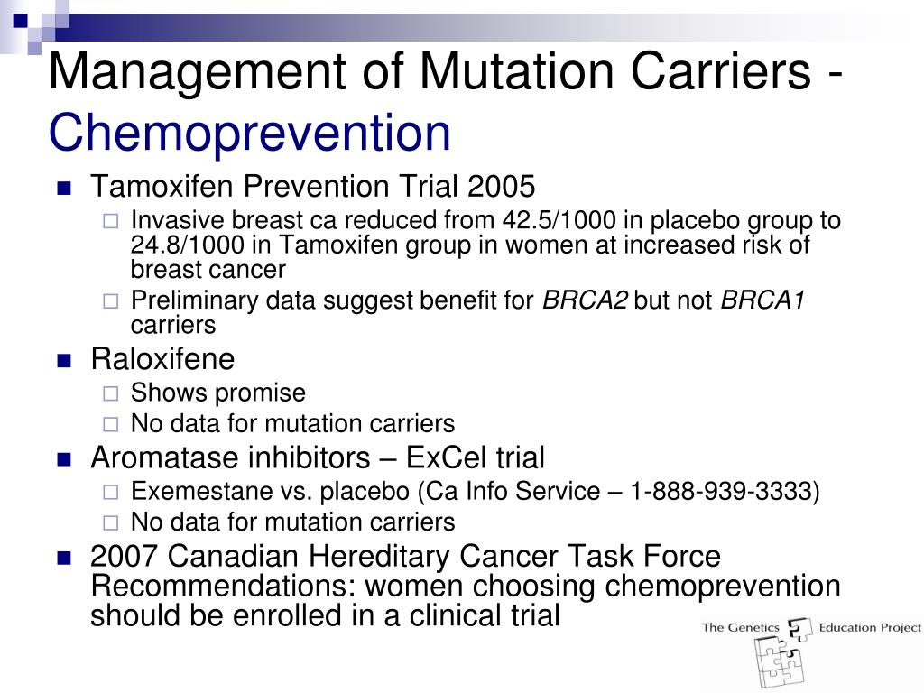 Management of Mutation Carriers -