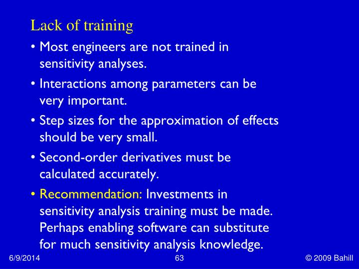 Lack of training