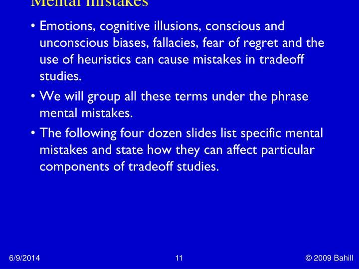 Mental mistakes