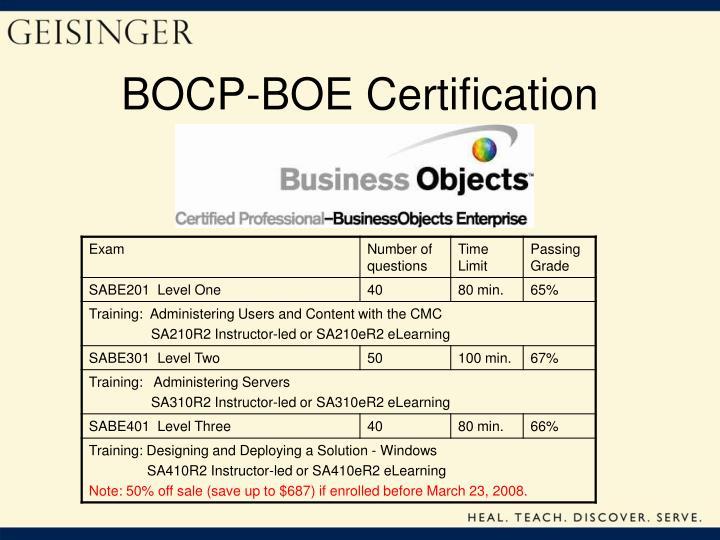 BOCP-BOE Certification