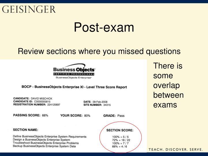 Post-exam