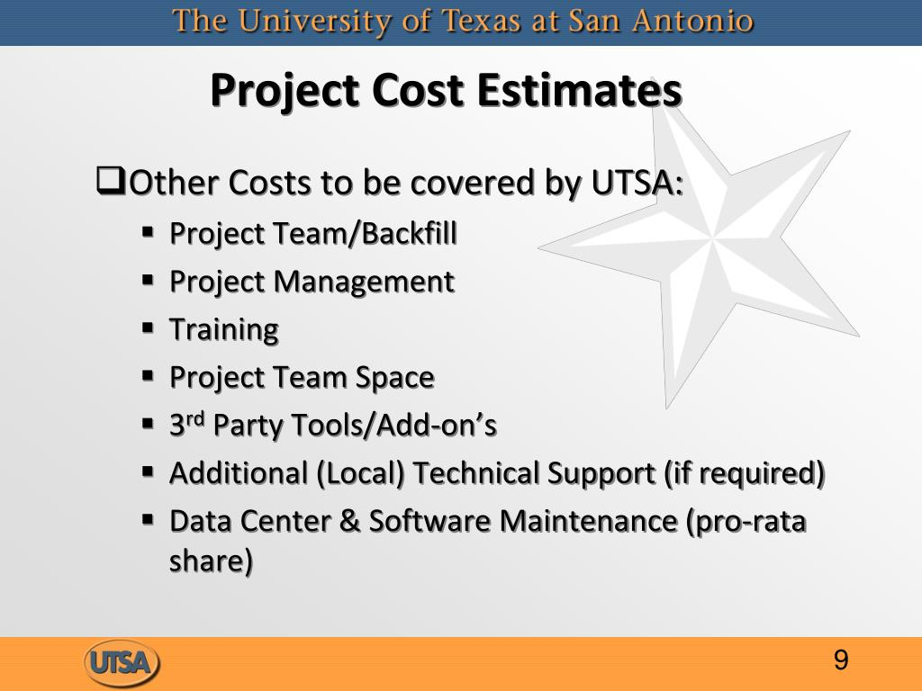 Project Cost Estimates