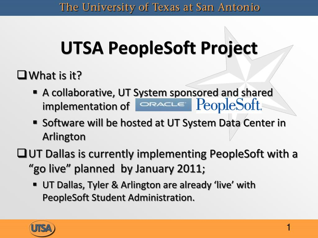 UTSA PeopleSoft Project