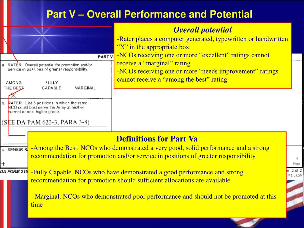 Part V – Overall Performance and Potential