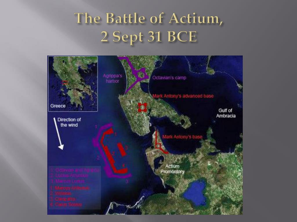 """the battle of actium Click sea battle of actium map for a """"free"""" download of this page in pdf format  in the early spring of 31 bc, marcus agrippa, octavian's boyhood friend and."""