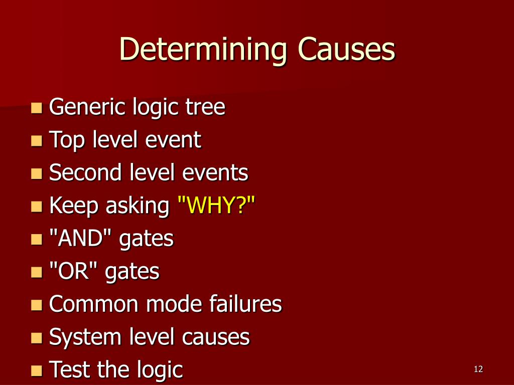 Determining Causes