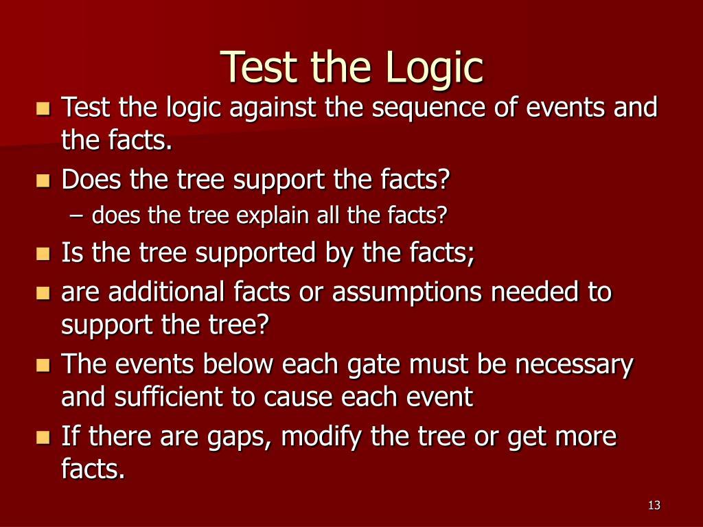 Test the Logic