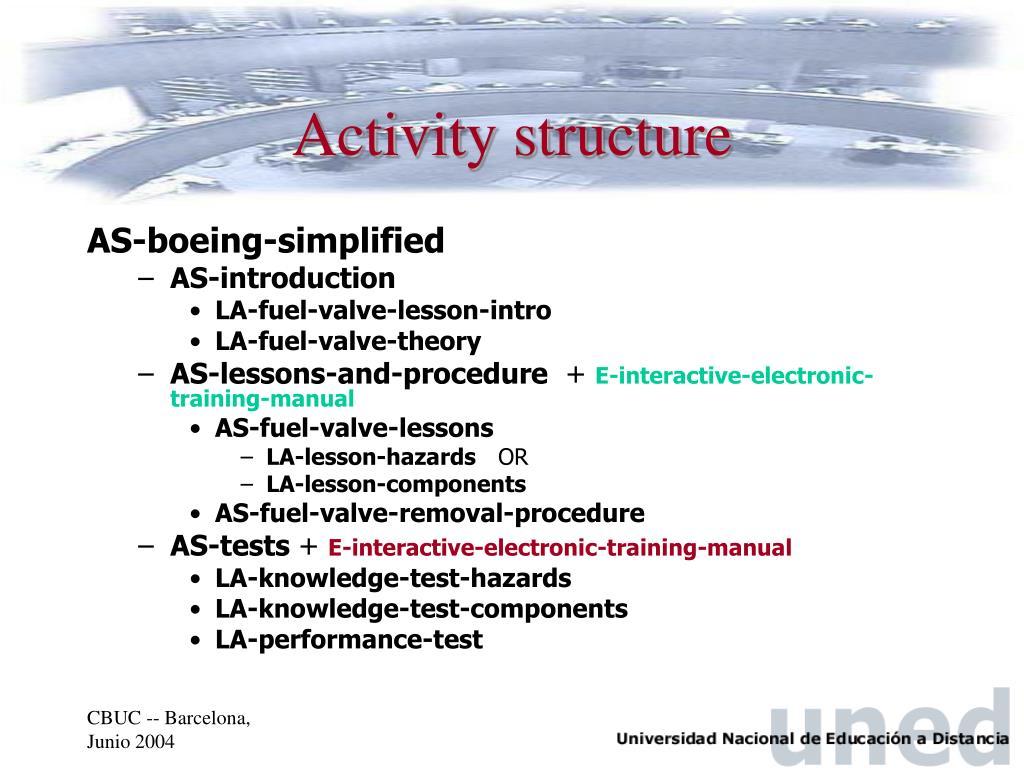 Activity structure