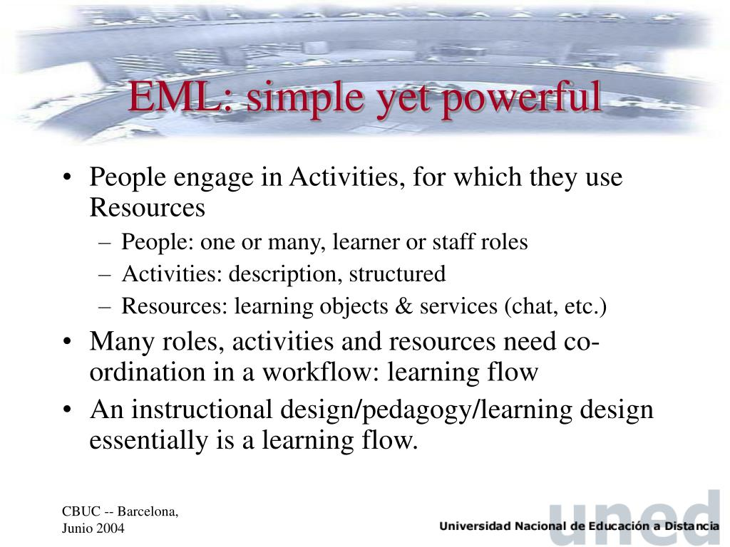 EML: simple yet powerful