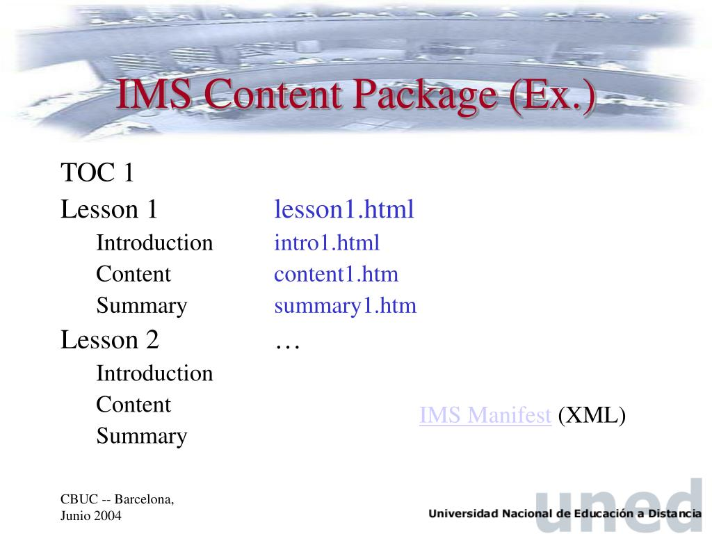 IMS Content Package (Ex.)