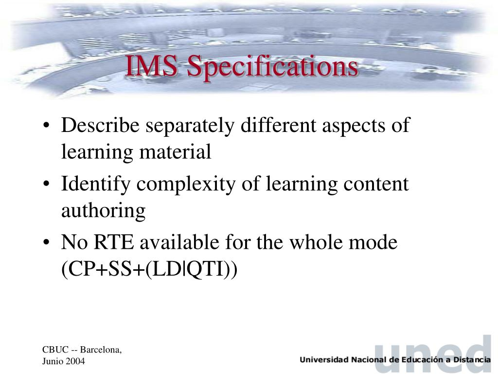 IMS Specifications