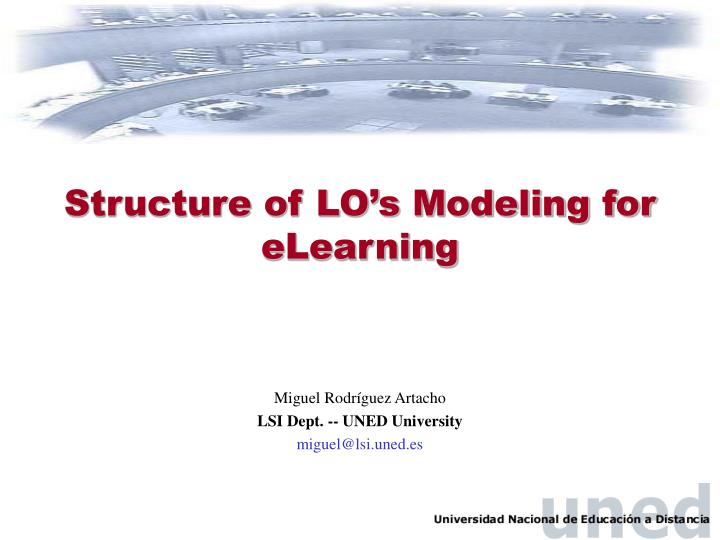 Structure of lo s modeling for elearning