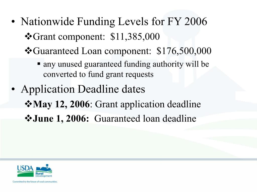 Nationwide Funding Levels for FY 2006