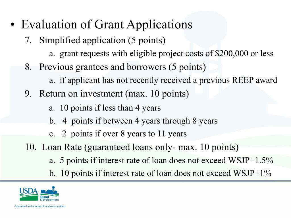 Evaluation of Grant Applications