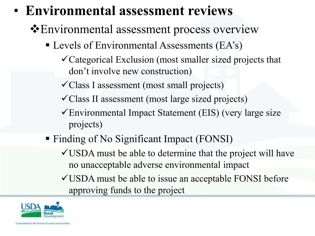 Environmental assessment reviews