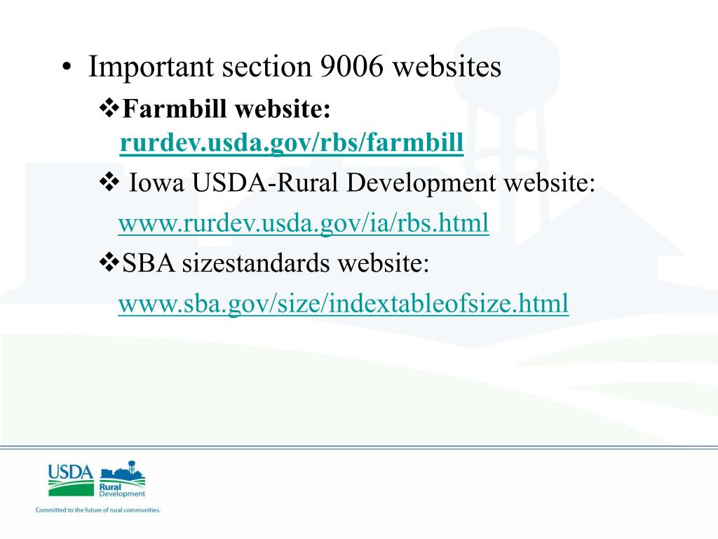 Important section 9006 websites
