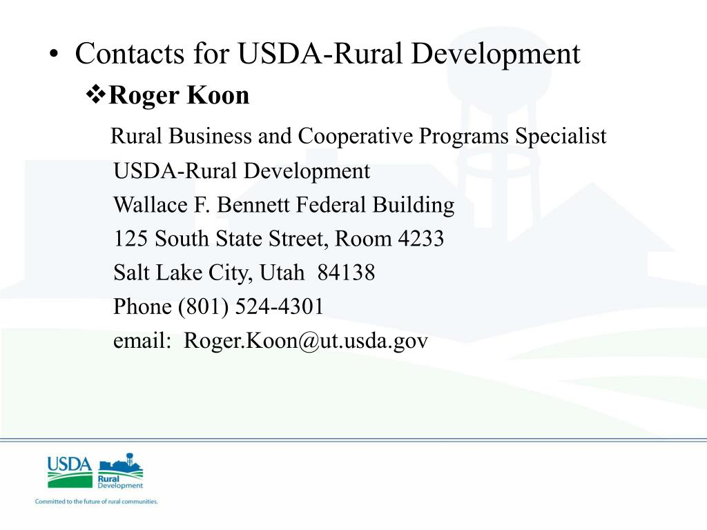 Contacts for USDA-Rural Development
