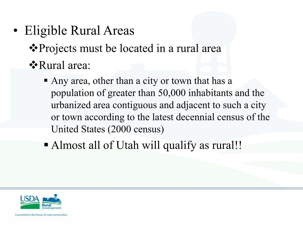 Eligible Rural Areas
