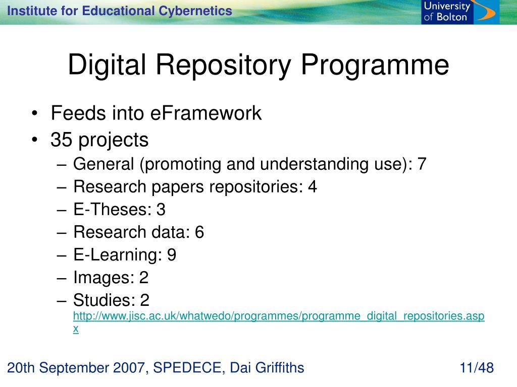 Digital Repository Programme