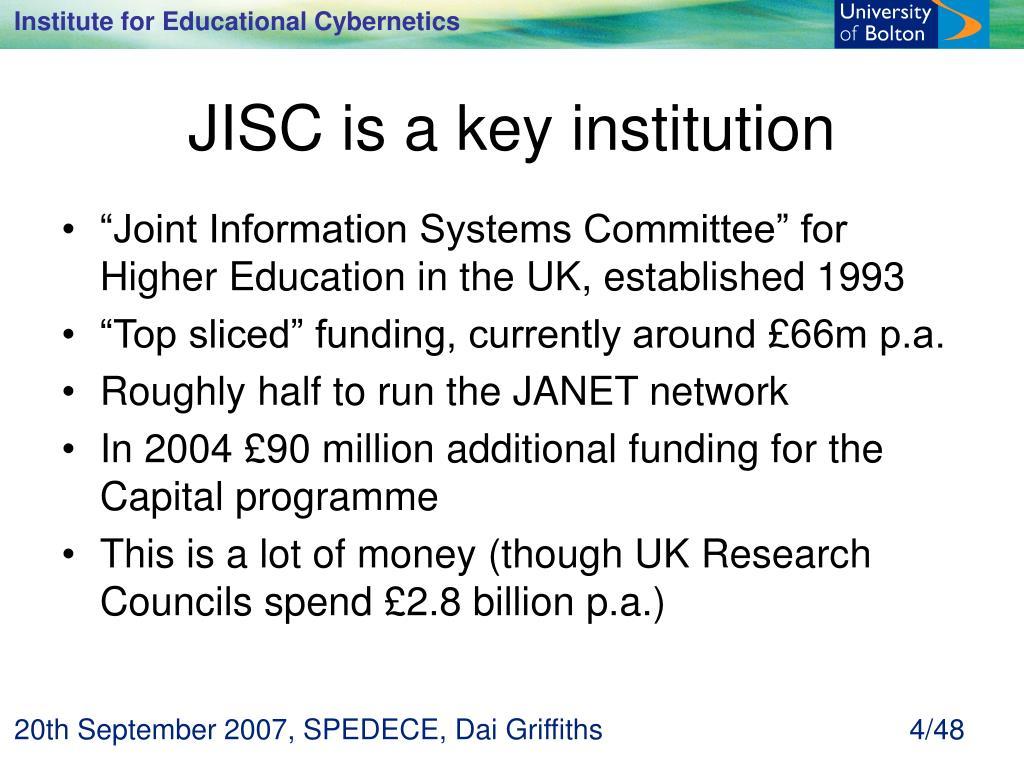 JISC is a key institution