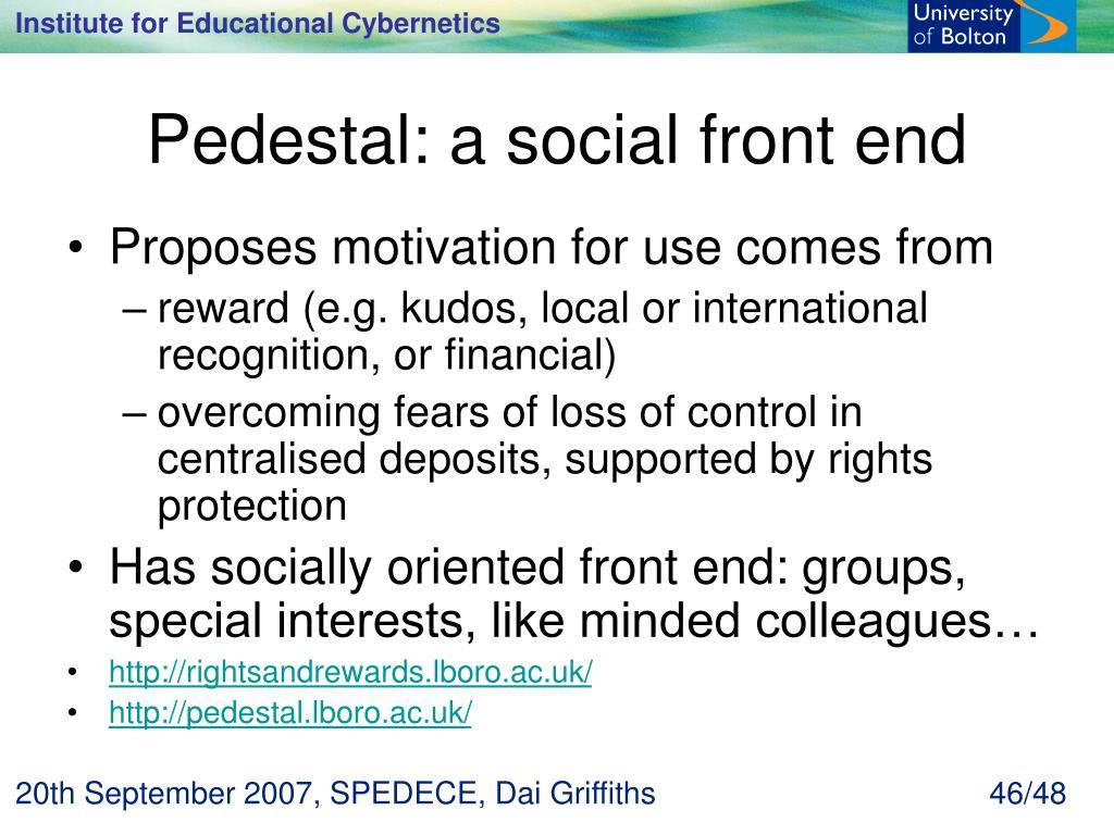 Pedestal: a social front end