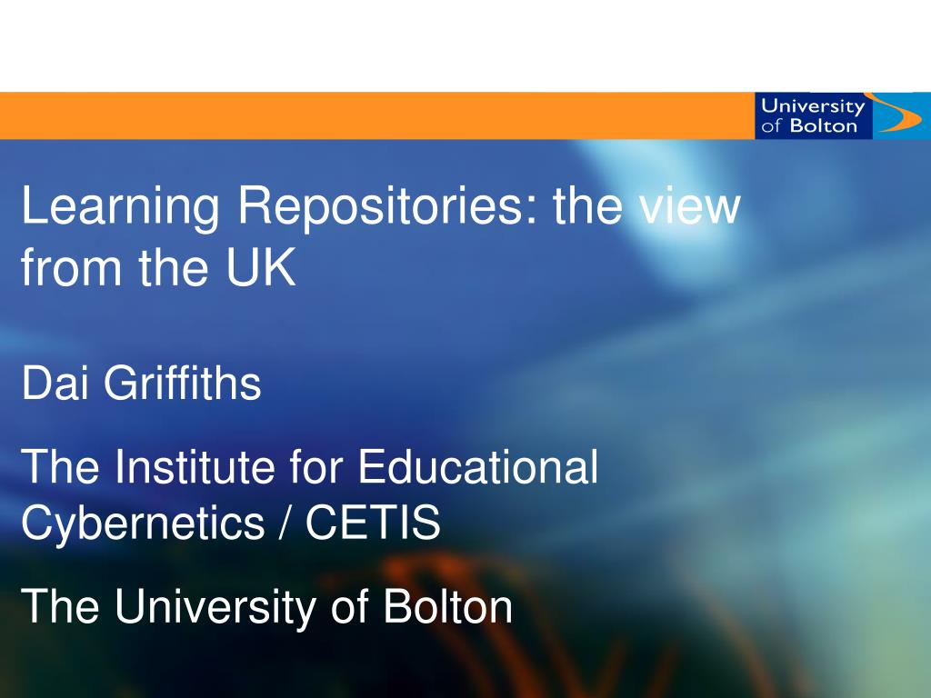 Learning Repositories: the view from the UK