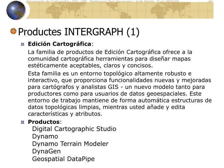 Productes INTERGRAPH (1)