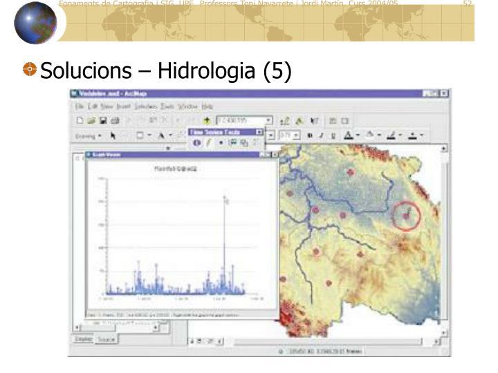 Solucions – Hidrologia (5)
