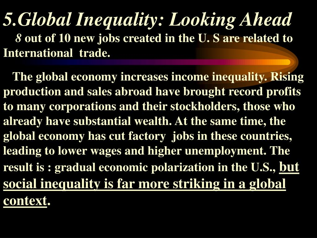 5.Global Inequality: Looking Ahead