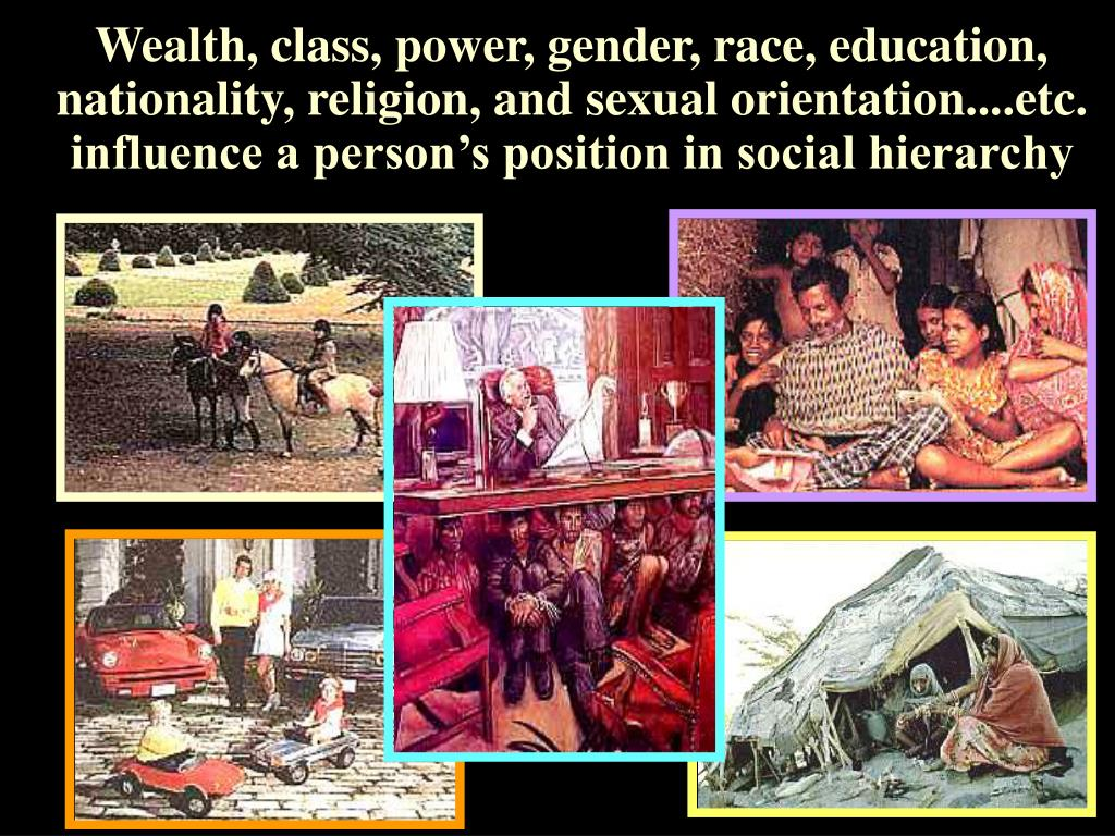 Wealth, class, power, gender, race, education,