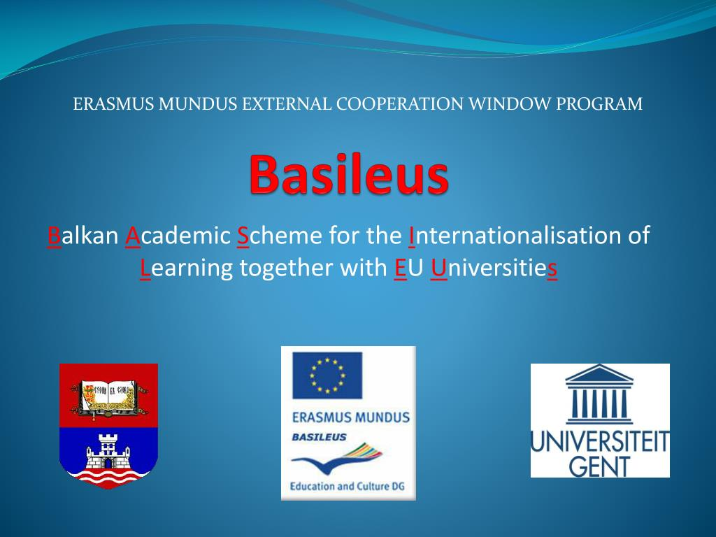 ERASMUS MUNDUS EXTERNAL COOPERATION WINDOW PROGRAM
