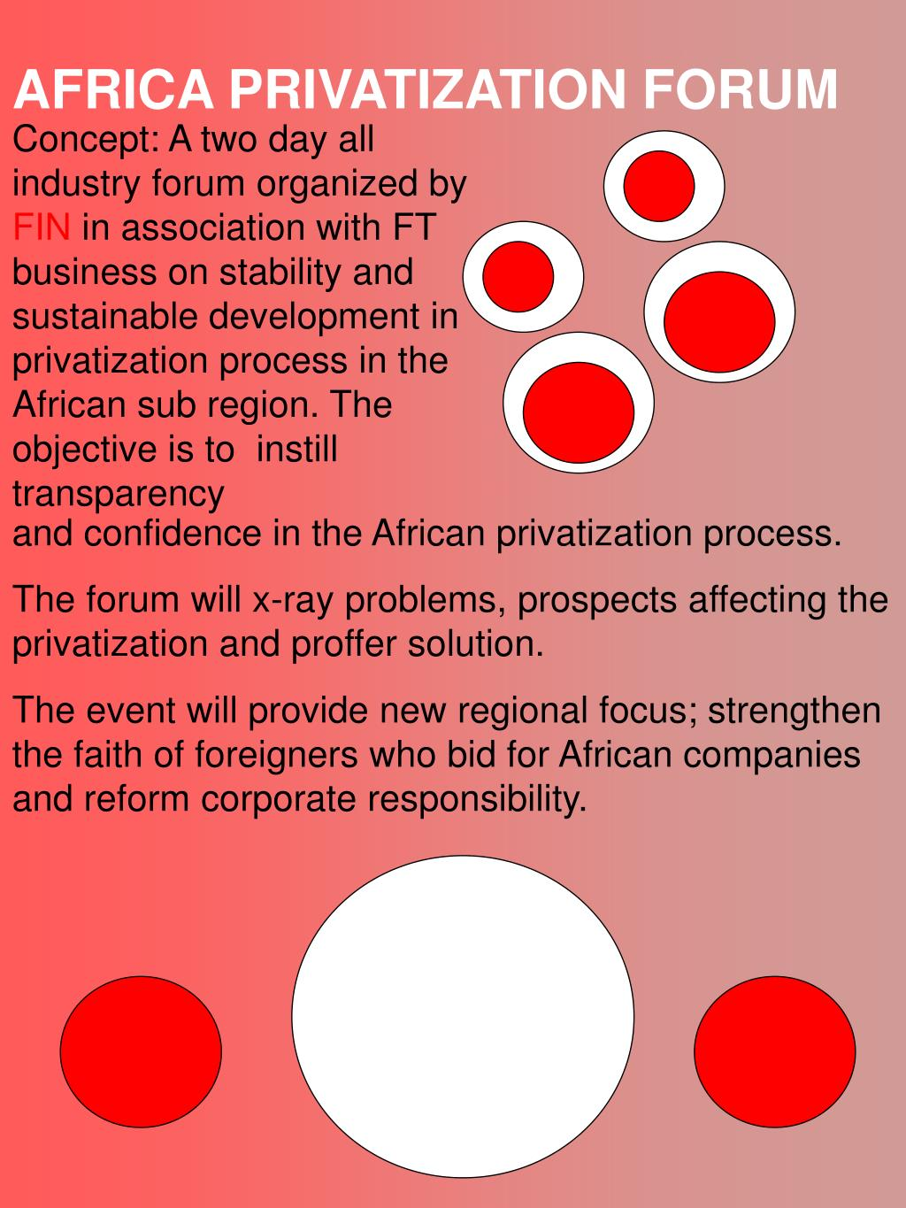 AFRICA PRIVATIZATION FORUM