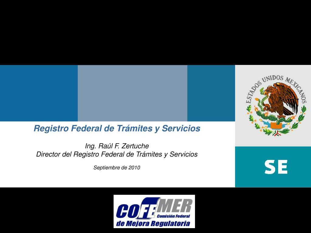 Registro Federal de Trámites y Servicios