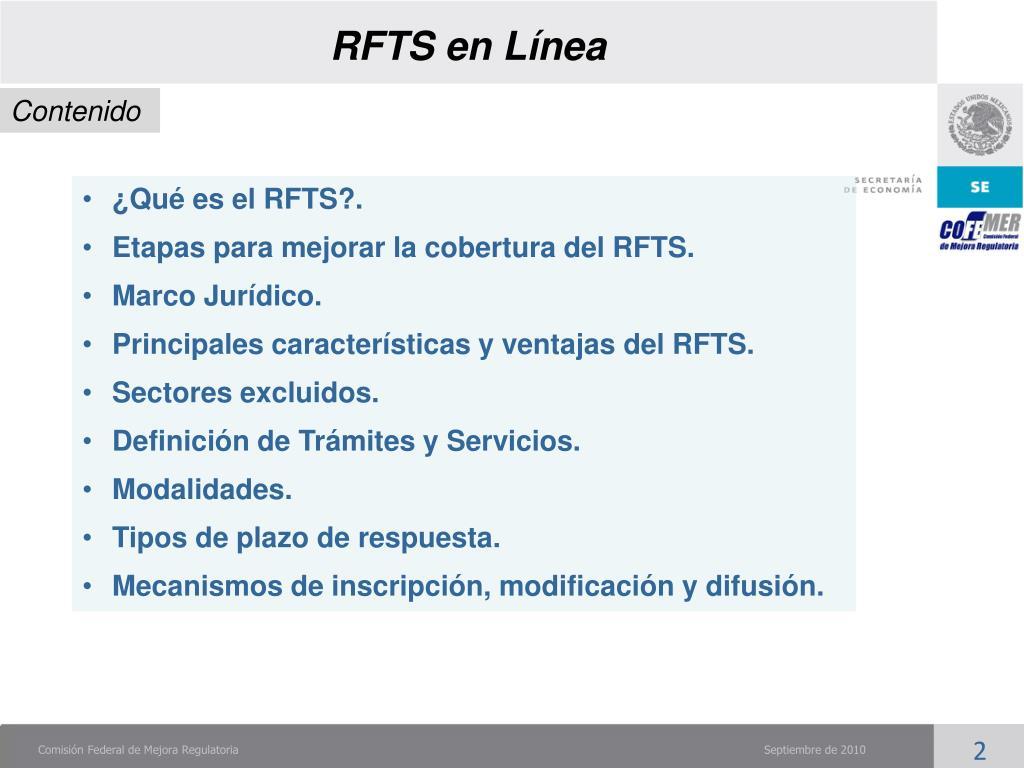 RFTS en Línea