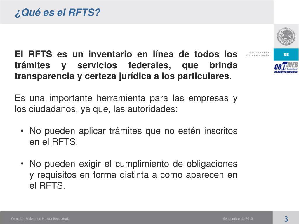 ¿Qué es el RFTS?