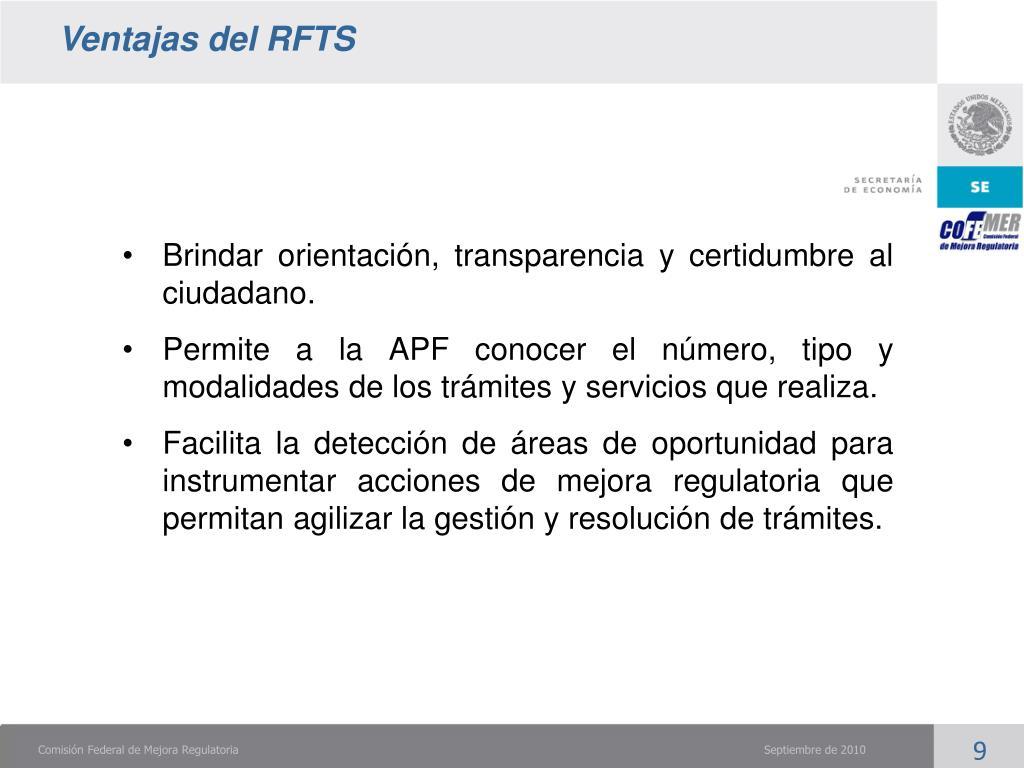 Ventajas del RFTS