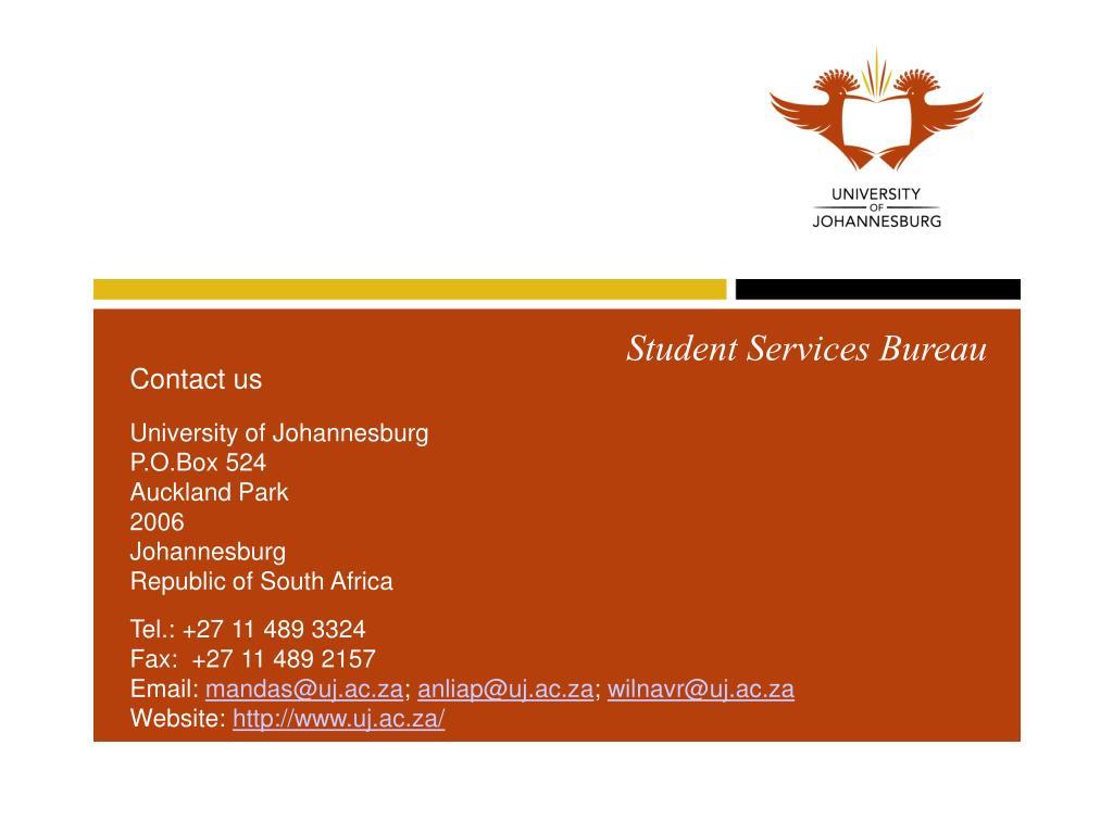 Student Services Bureau