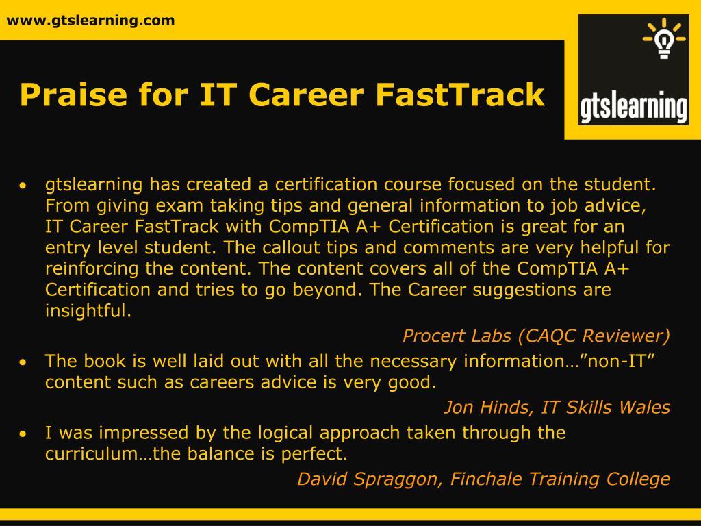 Praise for IT Career FastTrack