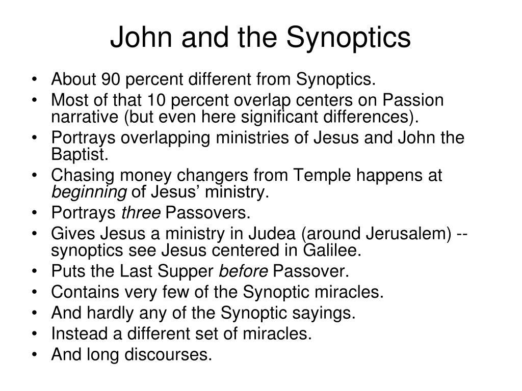 John and the Synoptics