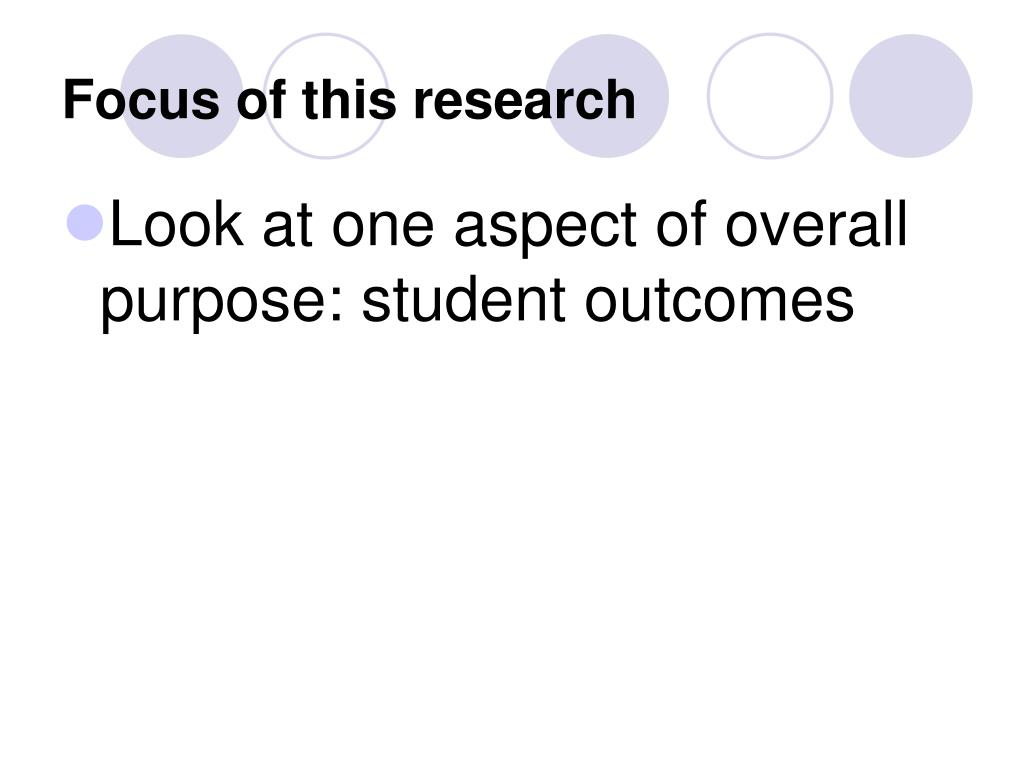 Focus of this research