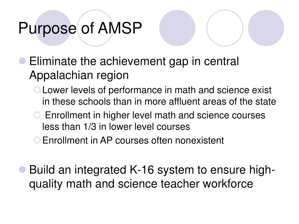 Purpose of AMSP