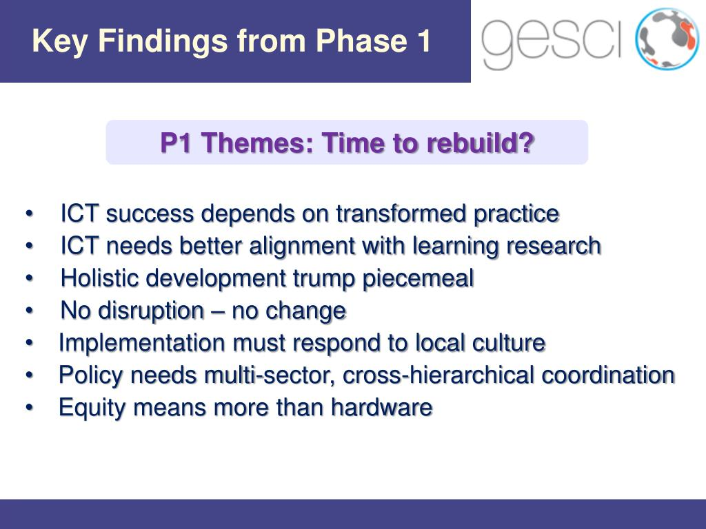 Key Findings from Phase 1