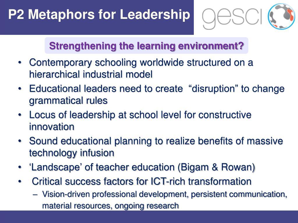P2 Metaphors for Leadership