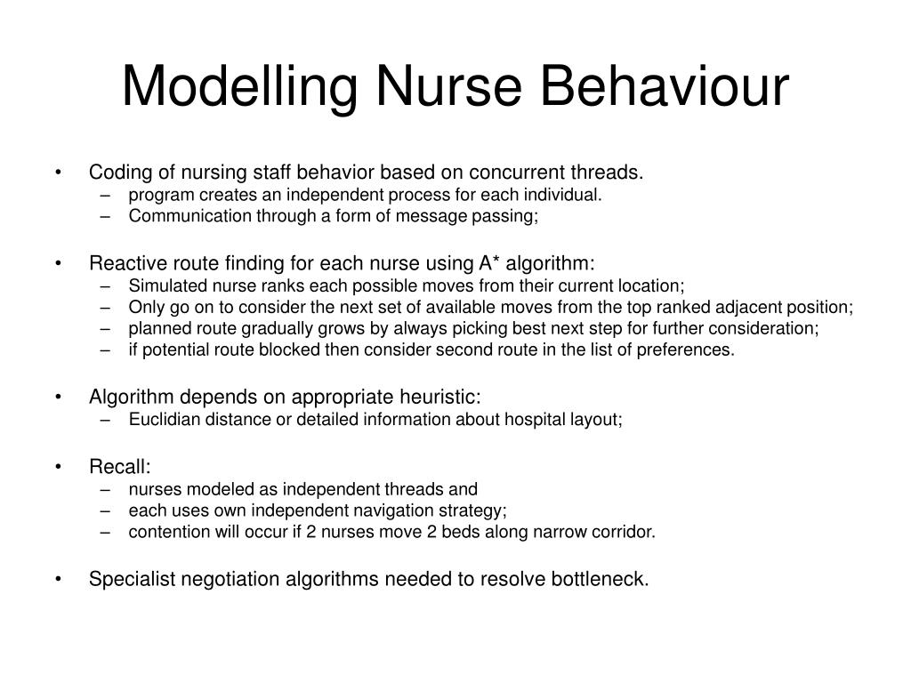 Modelling Nurse Behaviour