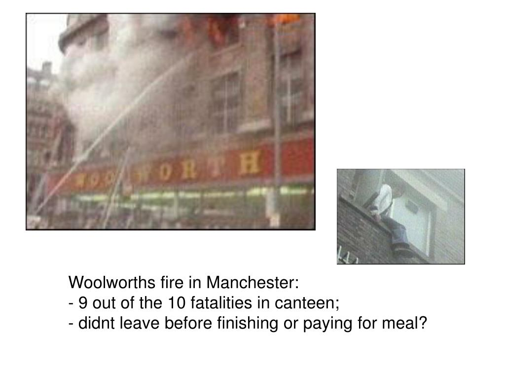 Woolworths fire in Manchester: