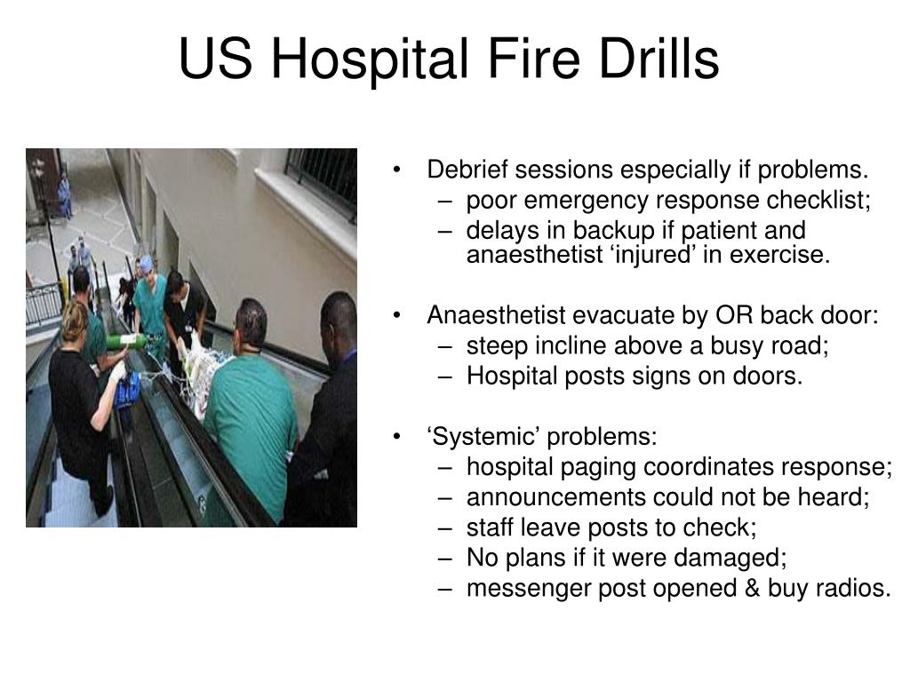US Hospital Fire Drills