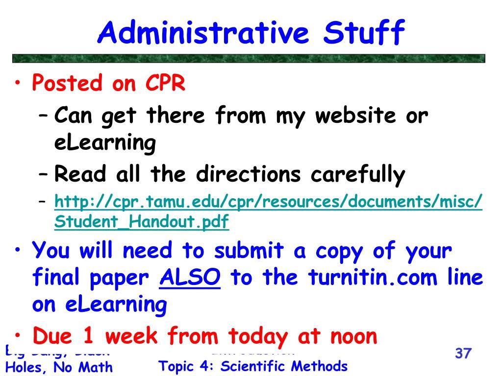 Administrative Stuff