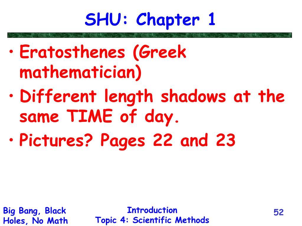 SHU: Chapter 1