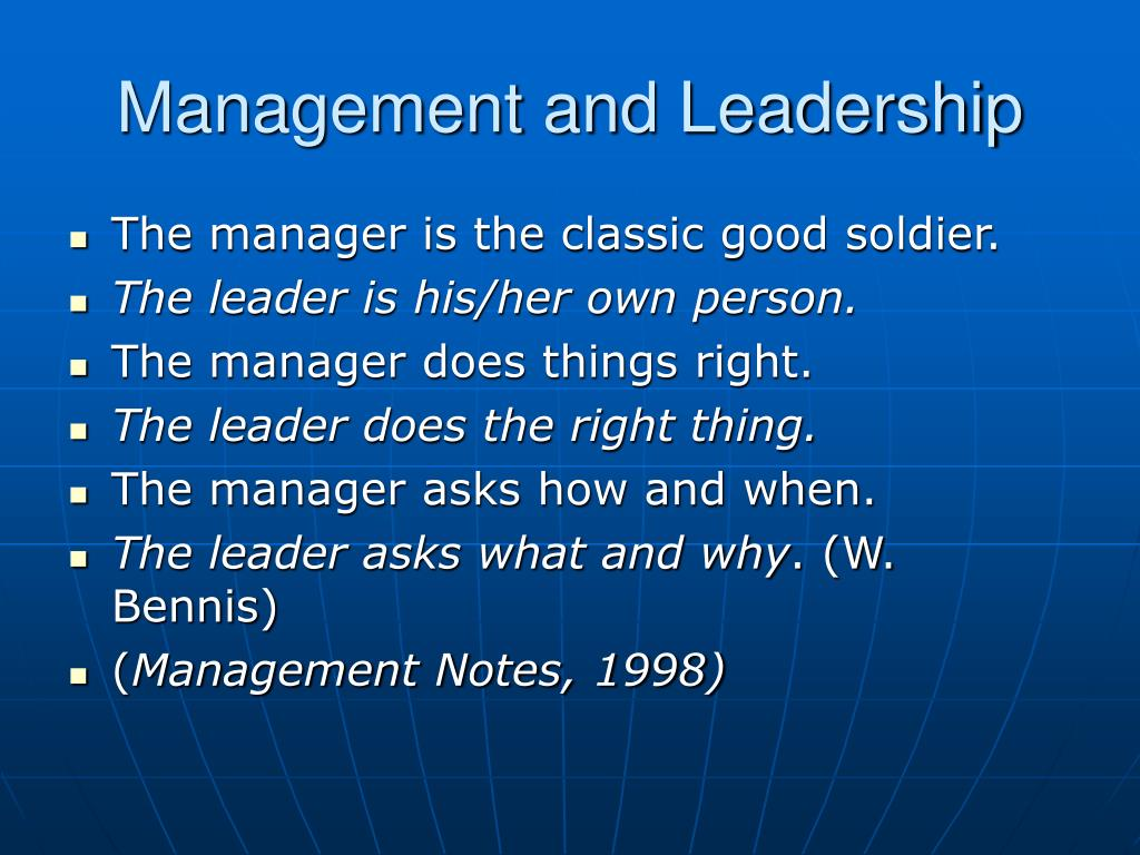 management and leadership Top 10 differences between managers and leaders scott williams soft skills - leadership vs management - duration: 19:08 tutorials point.