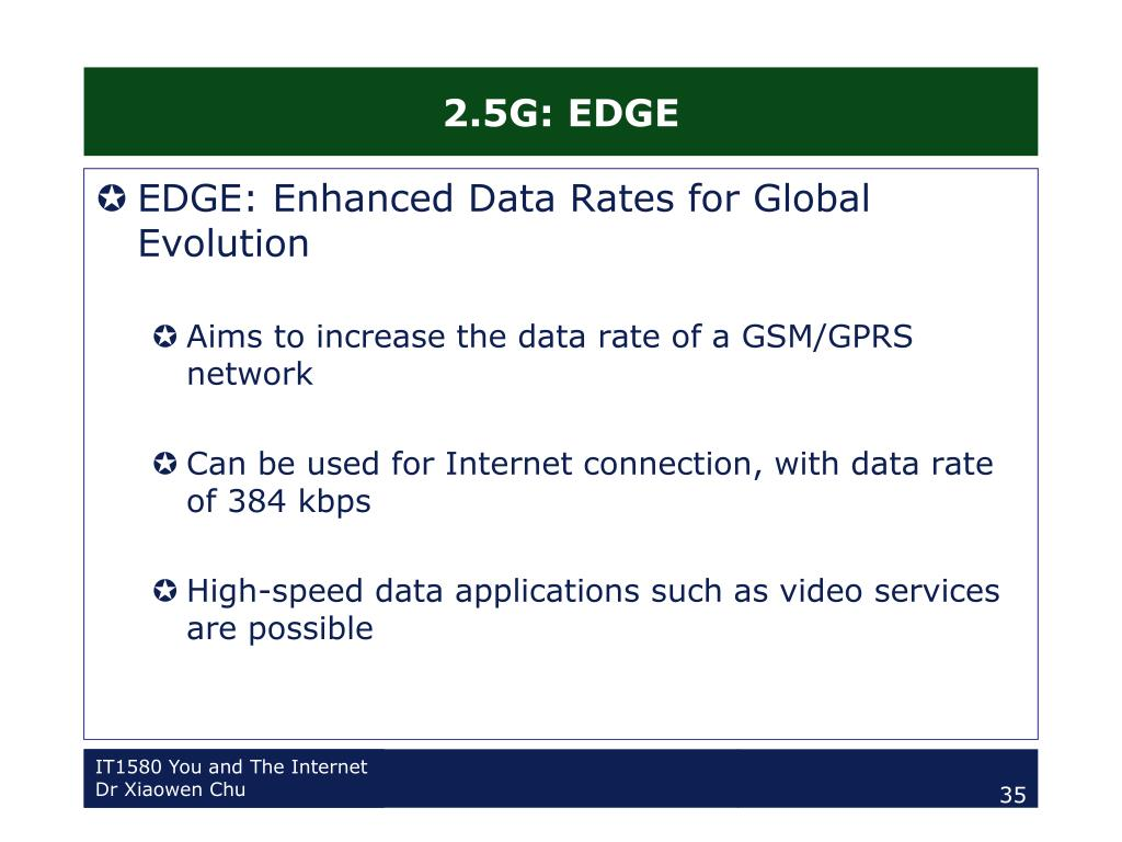 2.5G: EDGE